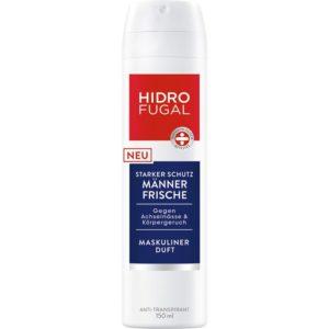 Speziell für die Männerhaut hat Hidrofugal ein neues und starkes Anti-Transpirant