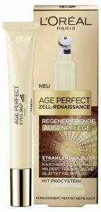Die L'Oreal Paris Age Perfect Zell Renaissance Augenpflege setzt bei altersbedingten Augenringen und Tränensäcken an.